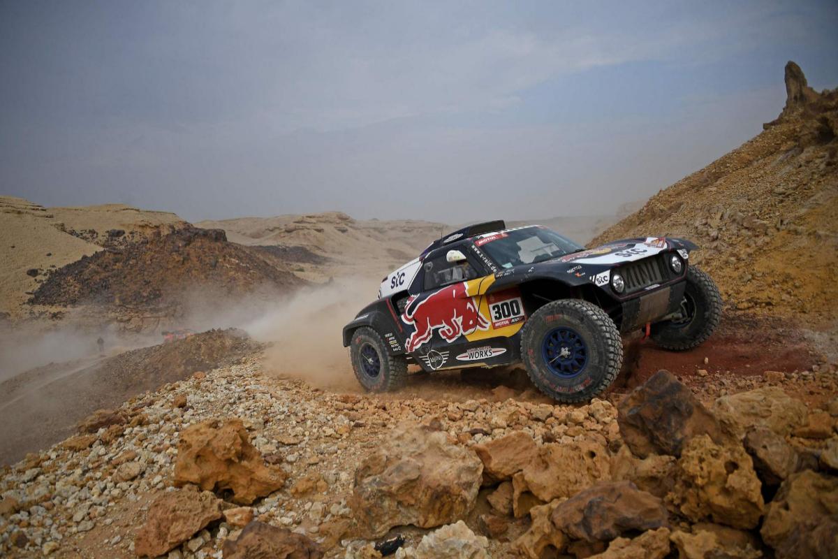 Carlos Sainz, durante la etapa en el Dakar.