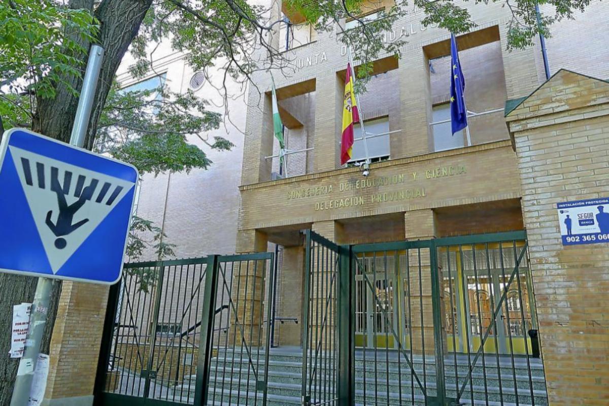 Fachada de la Delegación territorial de Educación en Sevilla.