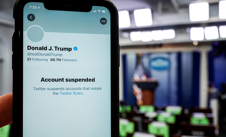Imagen de la cuenta de Twitter de Trump tras ser suspendida.