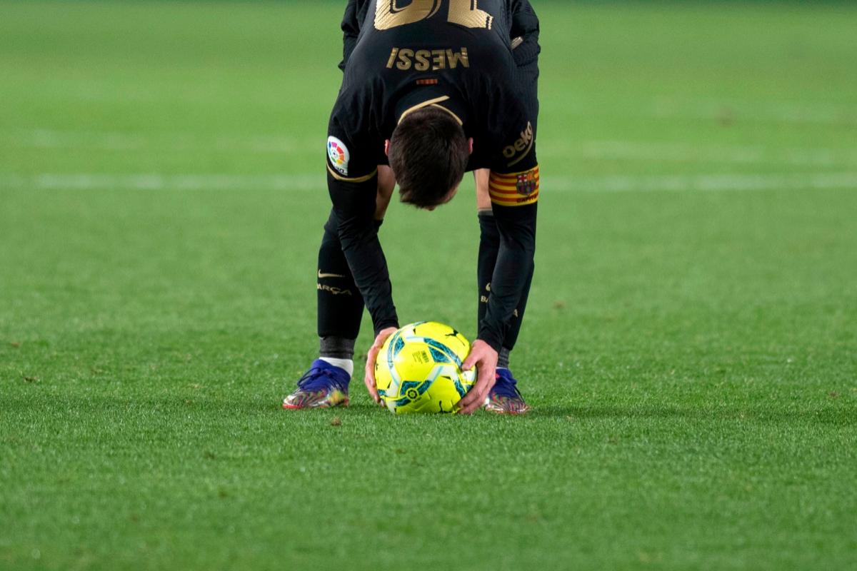 Messi, el pasado sábado en Los Cármenes de Granada.