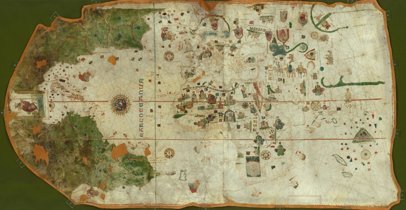Reproducción realizada por Google de la carta de 1500.