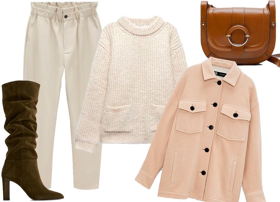 7 looks de Zara para vestir jersey con estilo - Blanco total