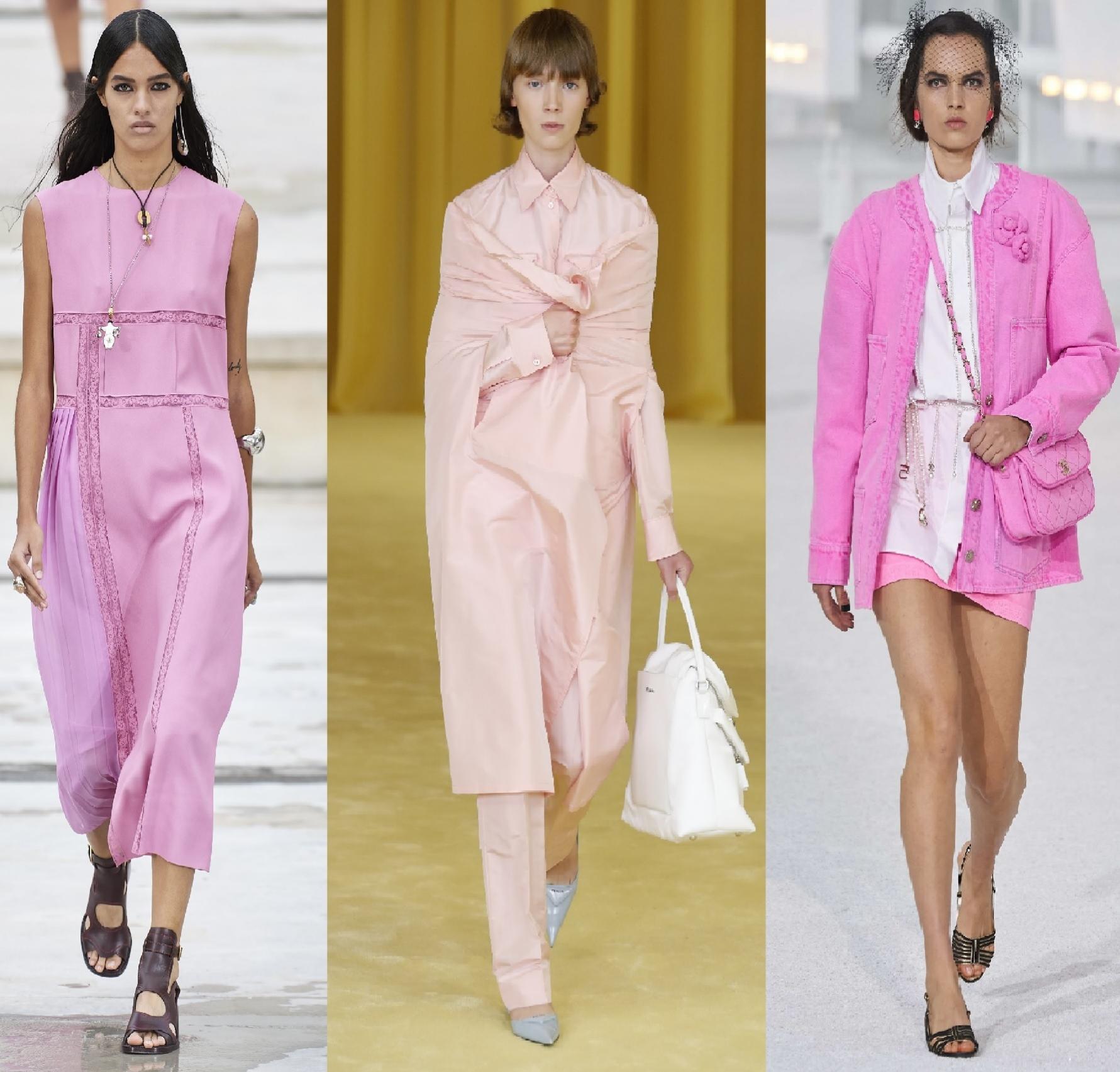 Looks de primavera-verano 2021 de Chloé, Prada y Chanel.