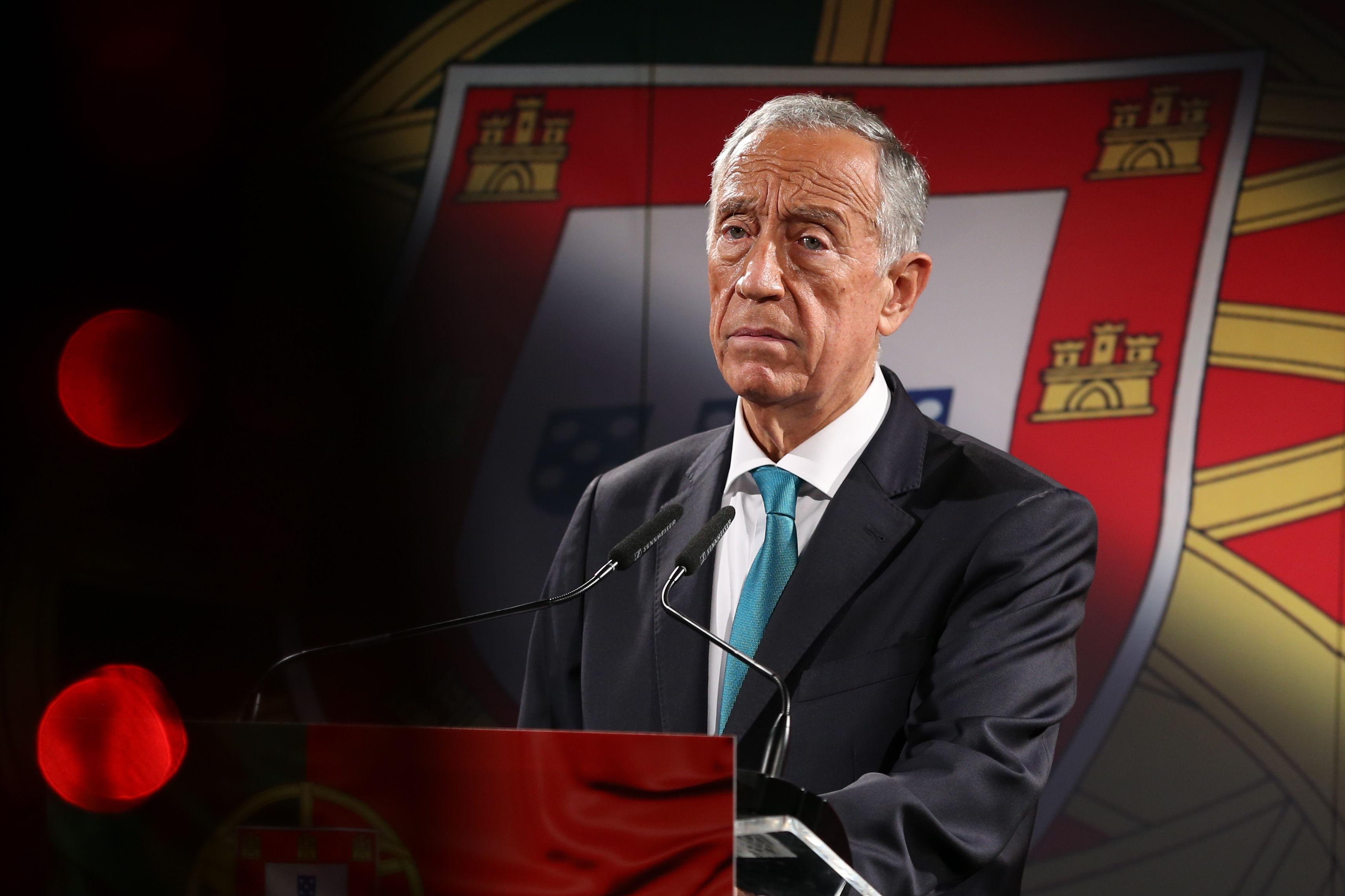 رئیس جمهور پرتغال مارسلو Rebelo de Sousa.
