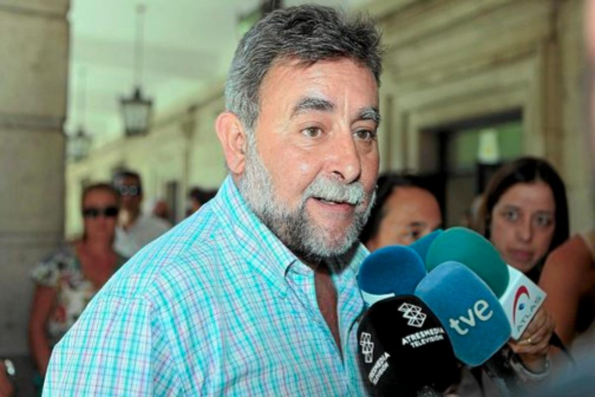 Francisco Fernández, ex secretario general de UGT-A, en los juzgados de Sevilla.