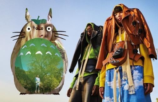 Los personajes de la película 'Mi vecino Totoro' impregnan la nueva serie de prendas y accesorios de Loewe.