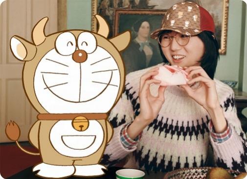Doraemon customizado para el Nuevo Año Chino dedicado al buey.