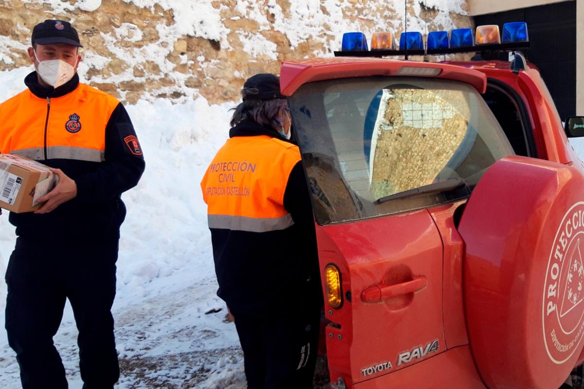 Los vehículos de Protección Civil han suplido a los 4x4 de la Conselleria.