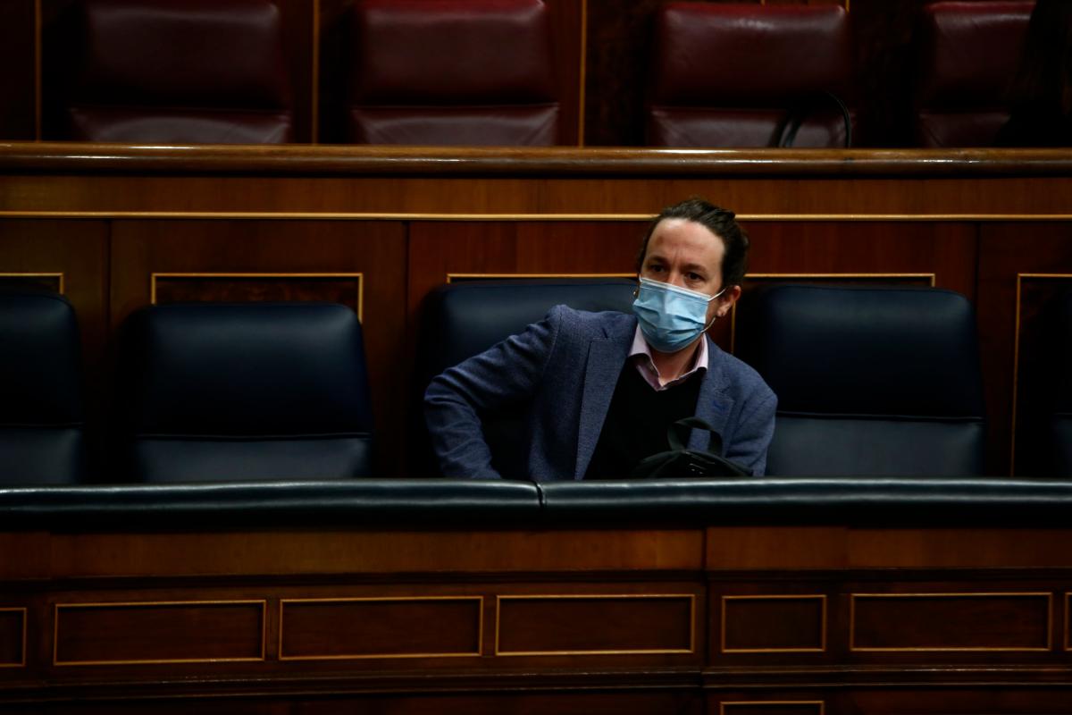 Pablo Iglesias, en una sesión de control al Gobierno.