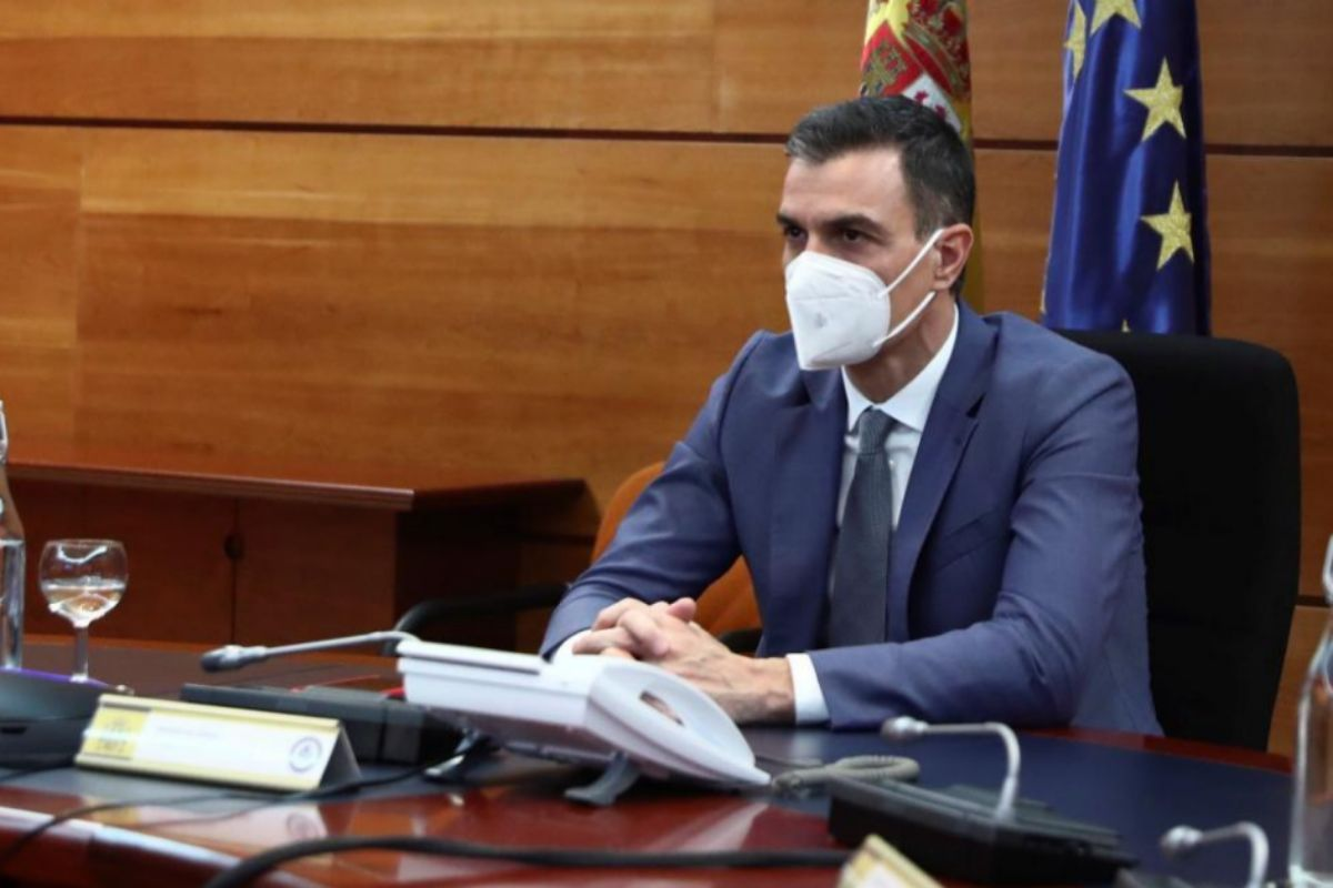 Pedro Sánchez, el lunes, en la reunión del Comité de Seguimiento del Coronavirus.