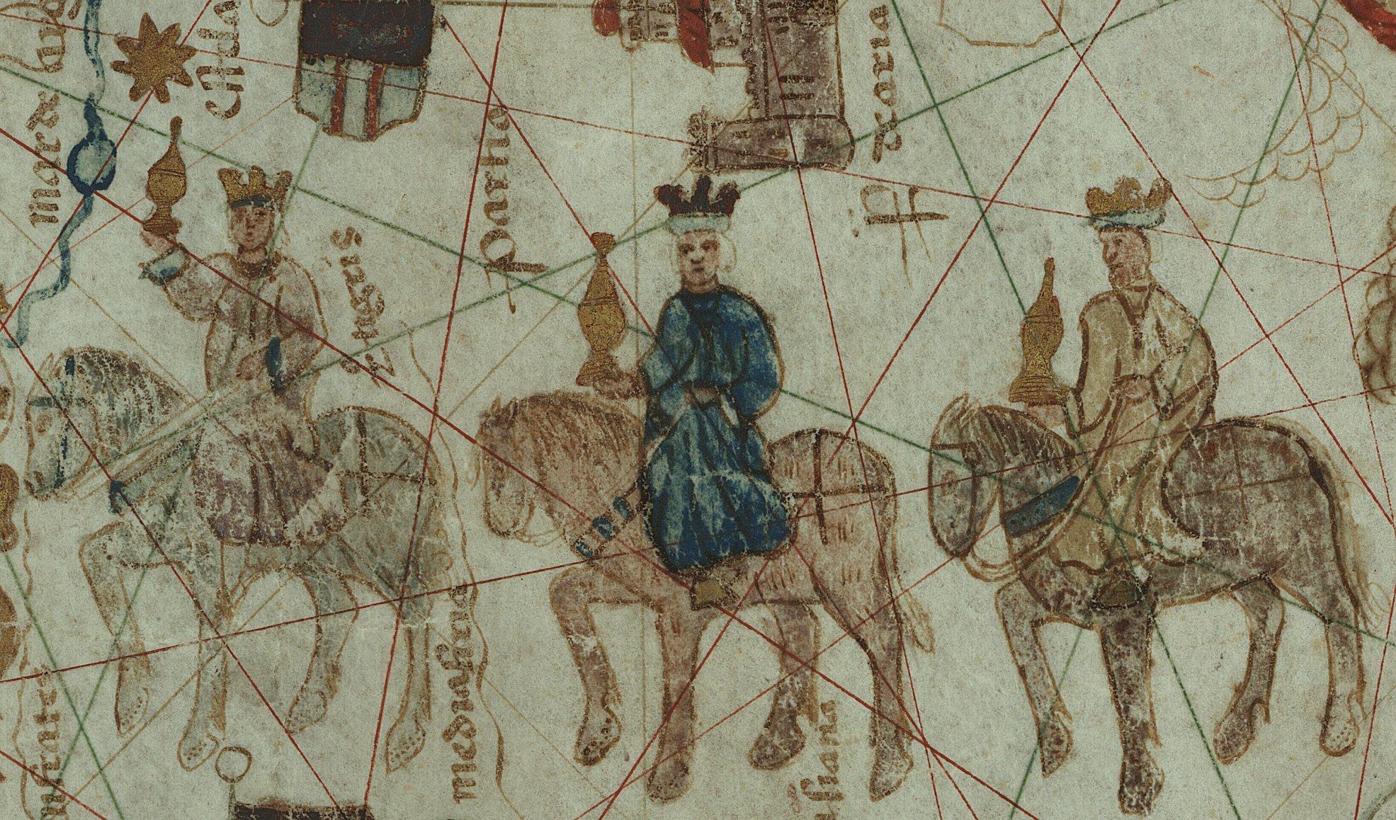 Los Reyes Magos en el carta.