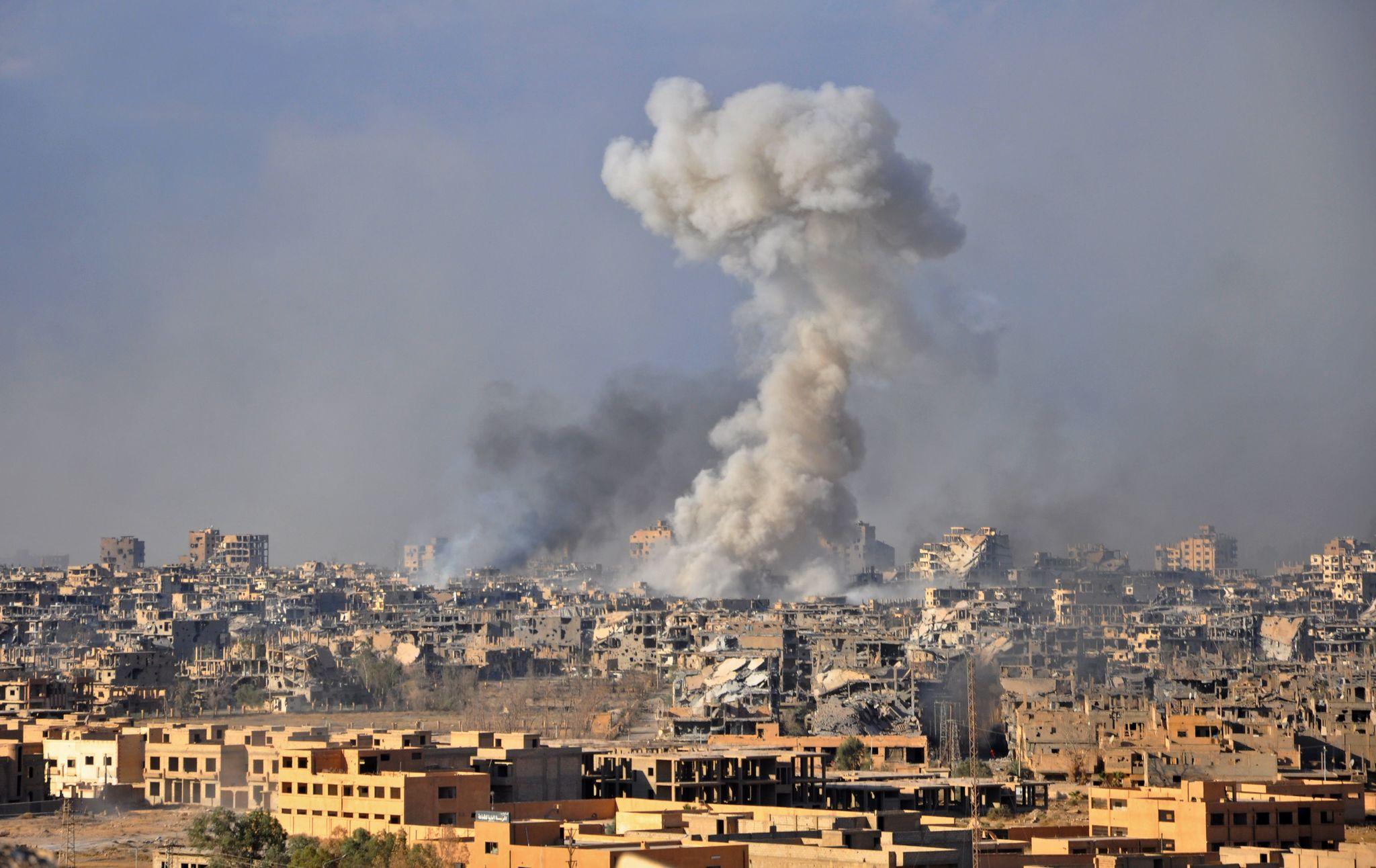Bombardeo en Deir Ezzor en 2017.