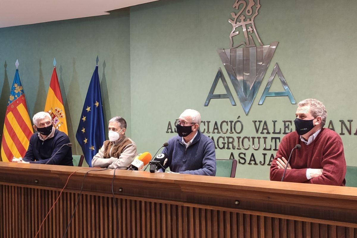 Cristóbal Aguado durante la presentación del balance de AVA-Asaja.