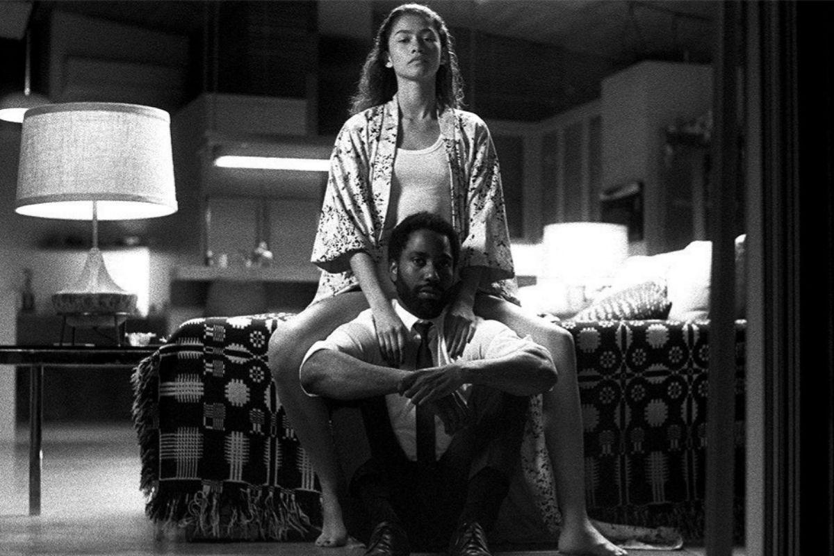 Zendaya y John David Washington en una imagen de 'Malcolm & Marie'.