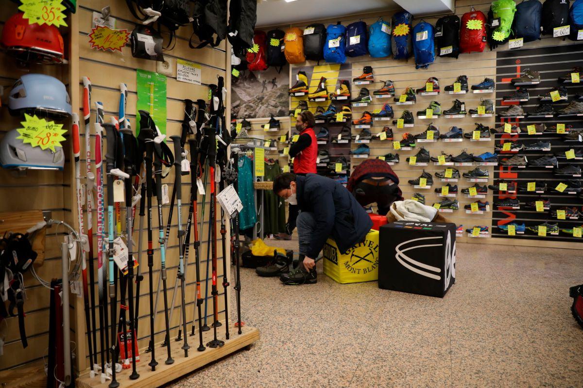 Tienda de material de montaña en Madrid.