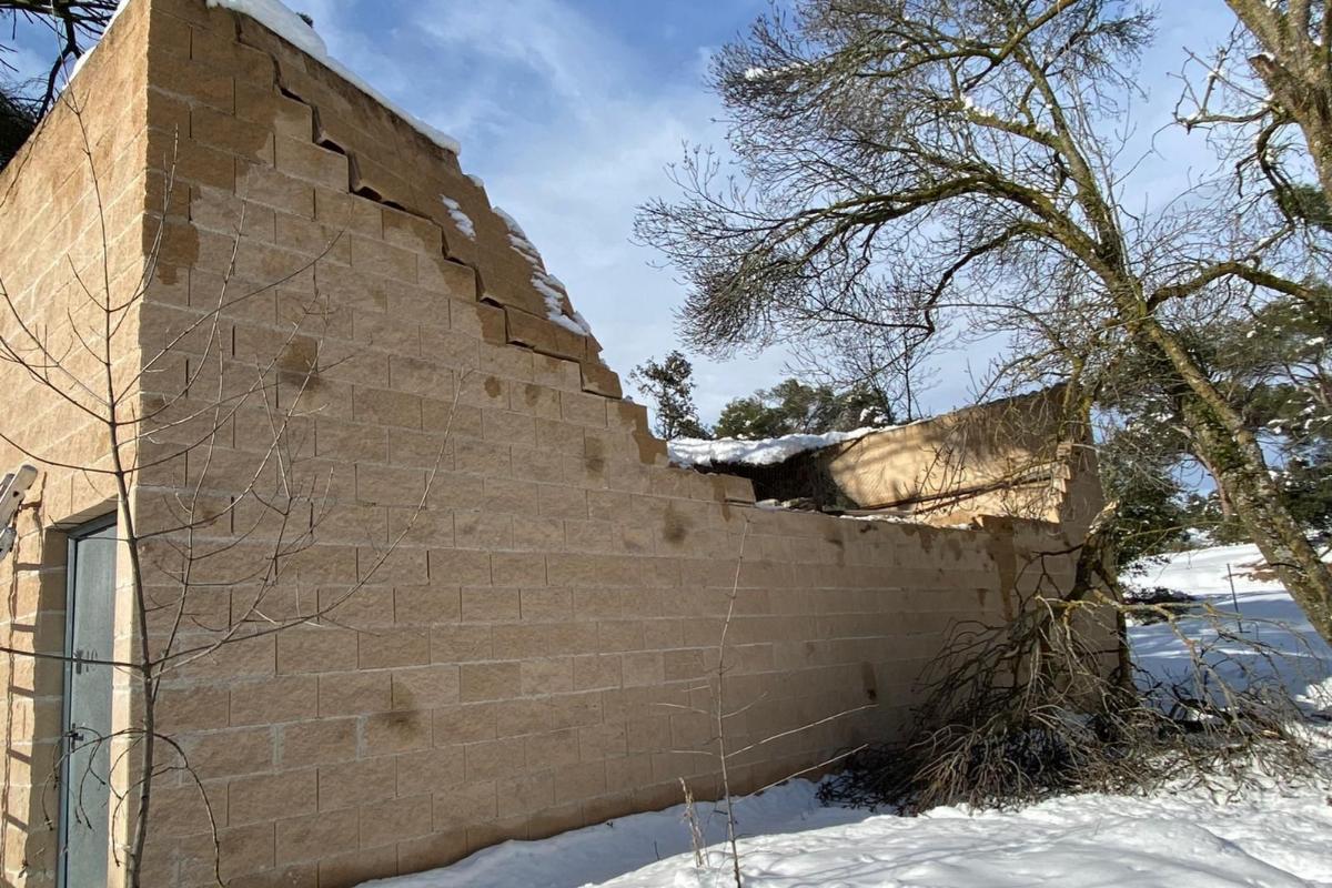 Otro de los recintos de cría en cautividad, con el muro derribado.