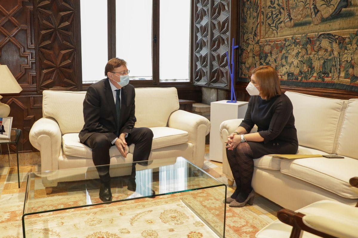 El presidente Ximo Puig reunido con Isabel Bonig.