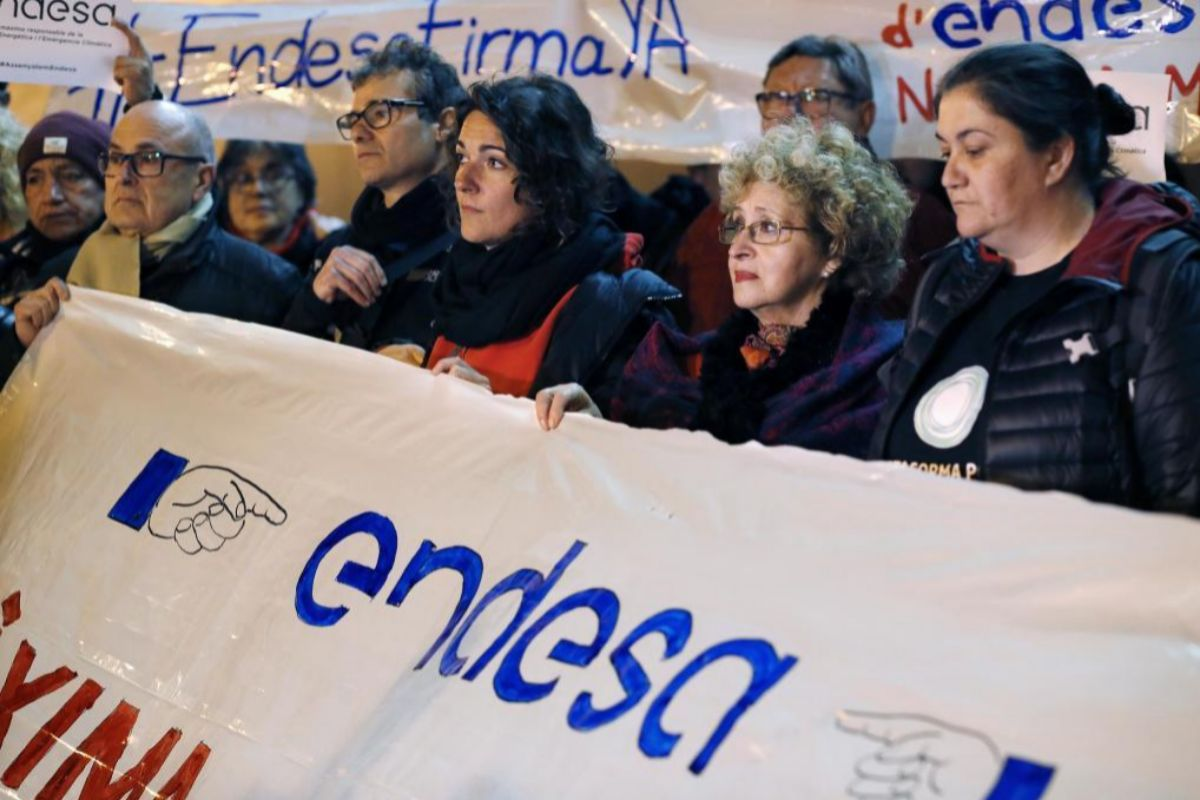 Protesta en febrero de 2020.