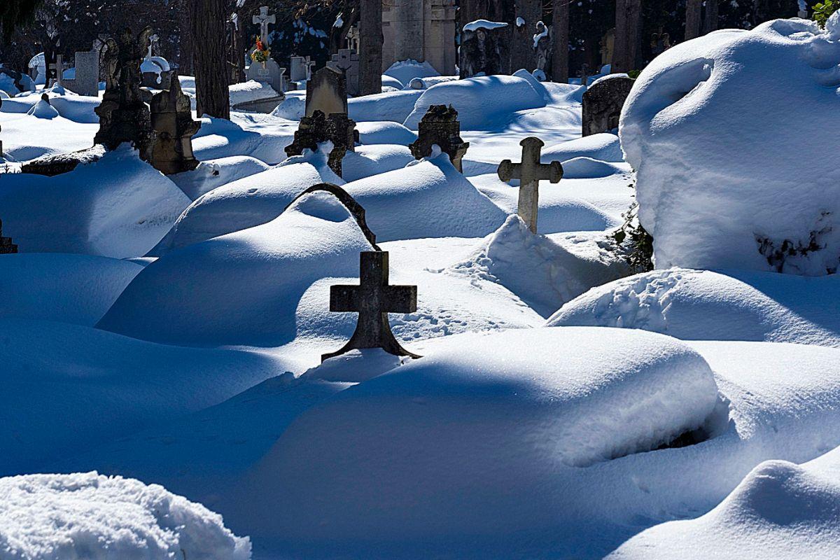 El cementerio de La Almudena, este miércoles.