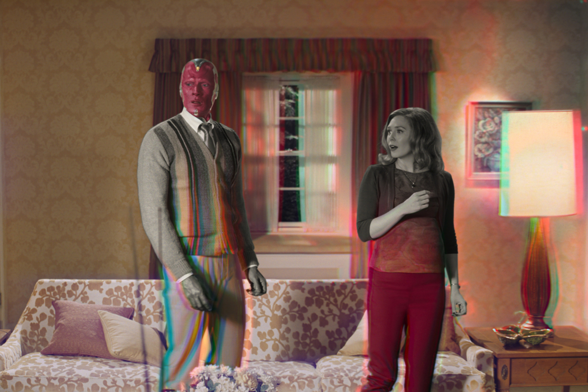 Bruja Escarlata y Visión: la telecomedia se hace posmoderna