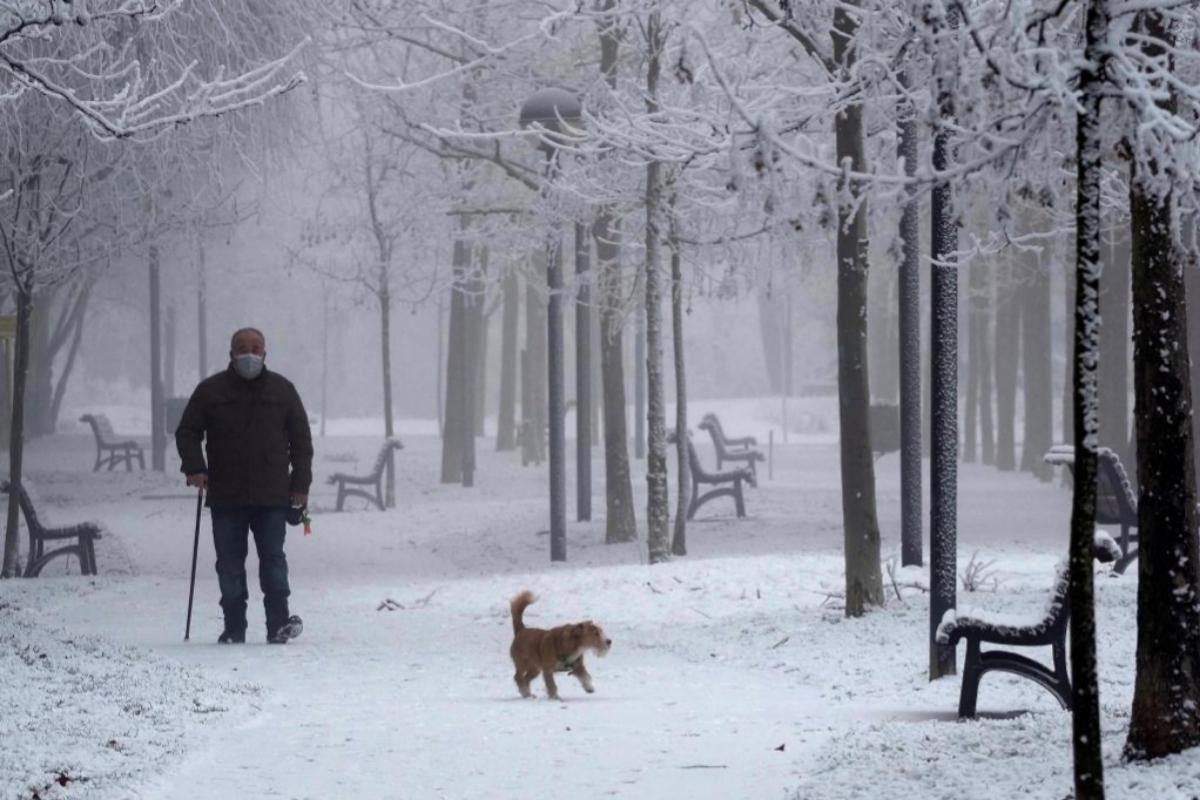 Nieve Ola de frío