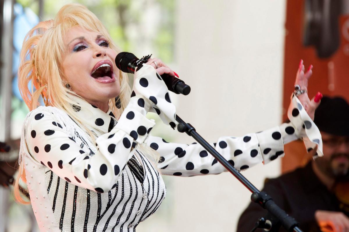 Dolly Parton durante una de sus actuaciones.