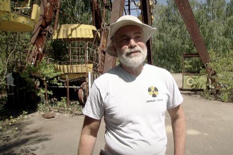 Serhij Myrnyj, antiguo responsable de la medición de la radiación en Chernóbil y ahora guía turístico.