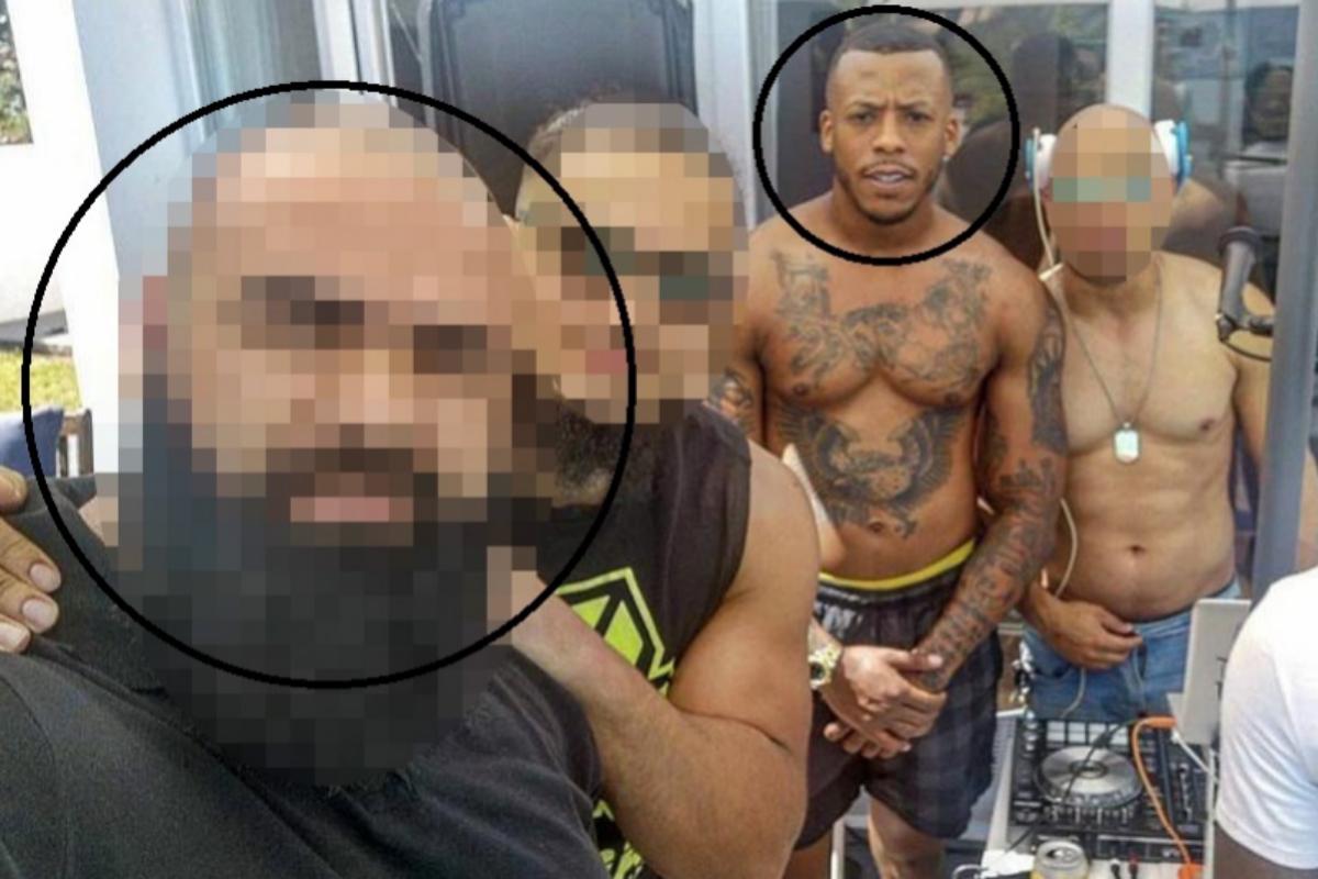 Una imagen en la que aparece 'el Melillero' con un policía investigado por narcotráfico