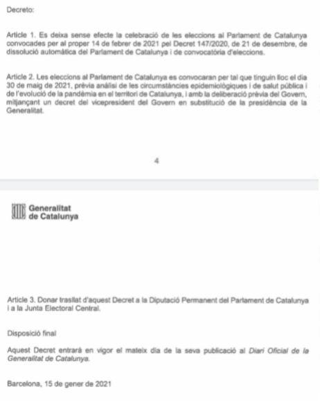 Decreto de suspensión del 14-F.