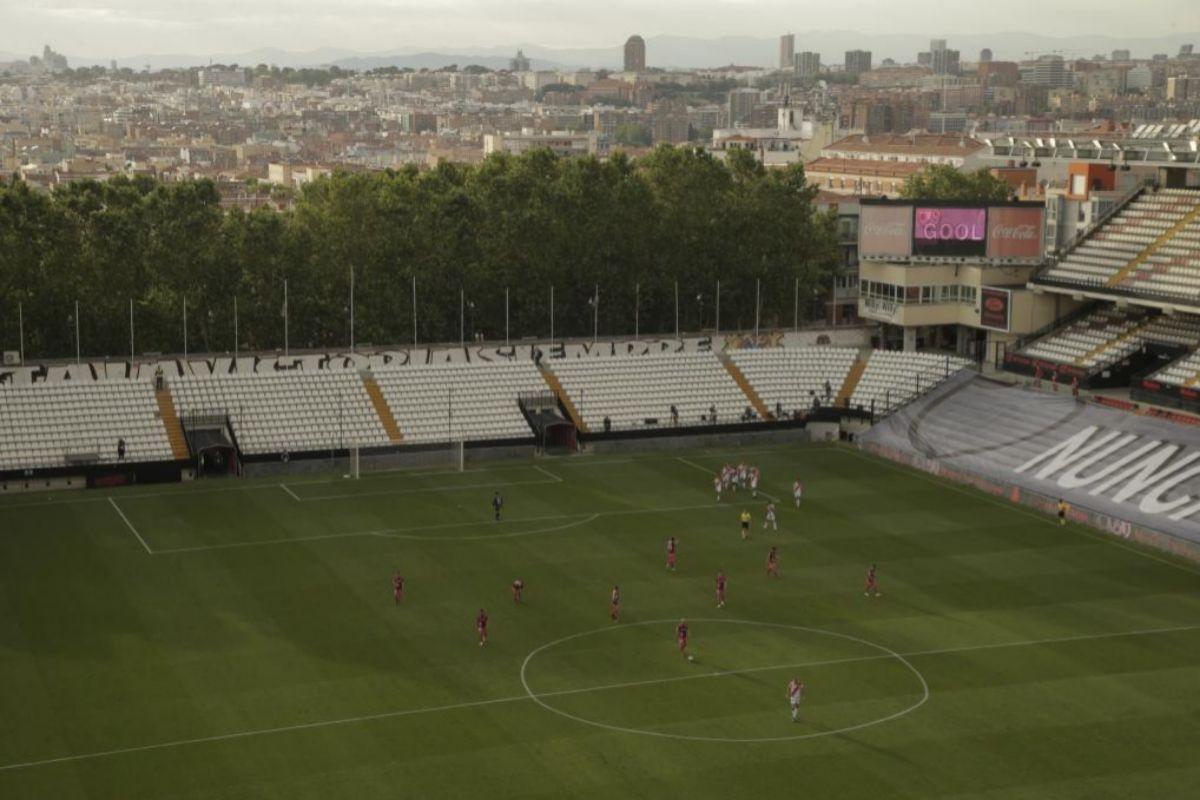 Imagen del Estadio de Vallecas.