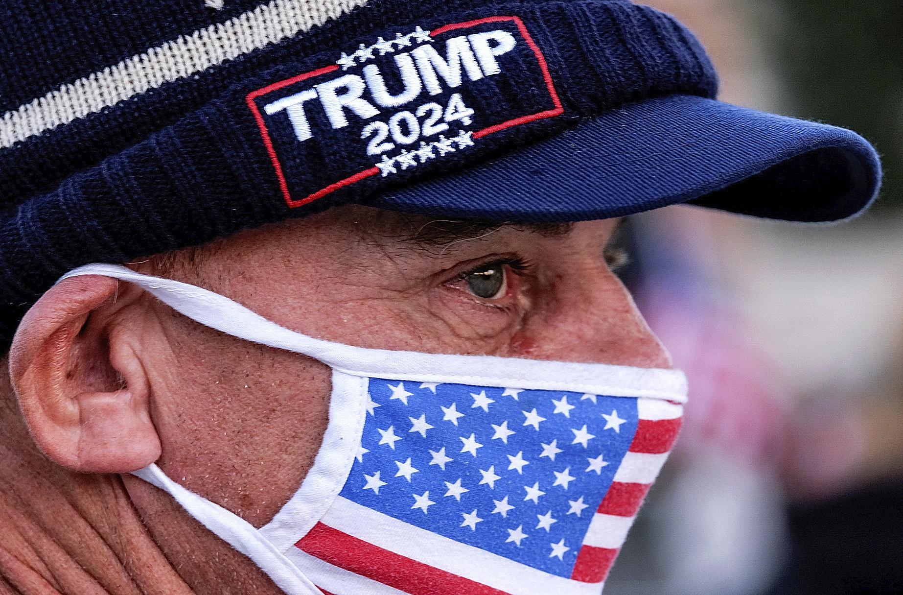 حامی دونالد ترامپ در کالیفرنیا.