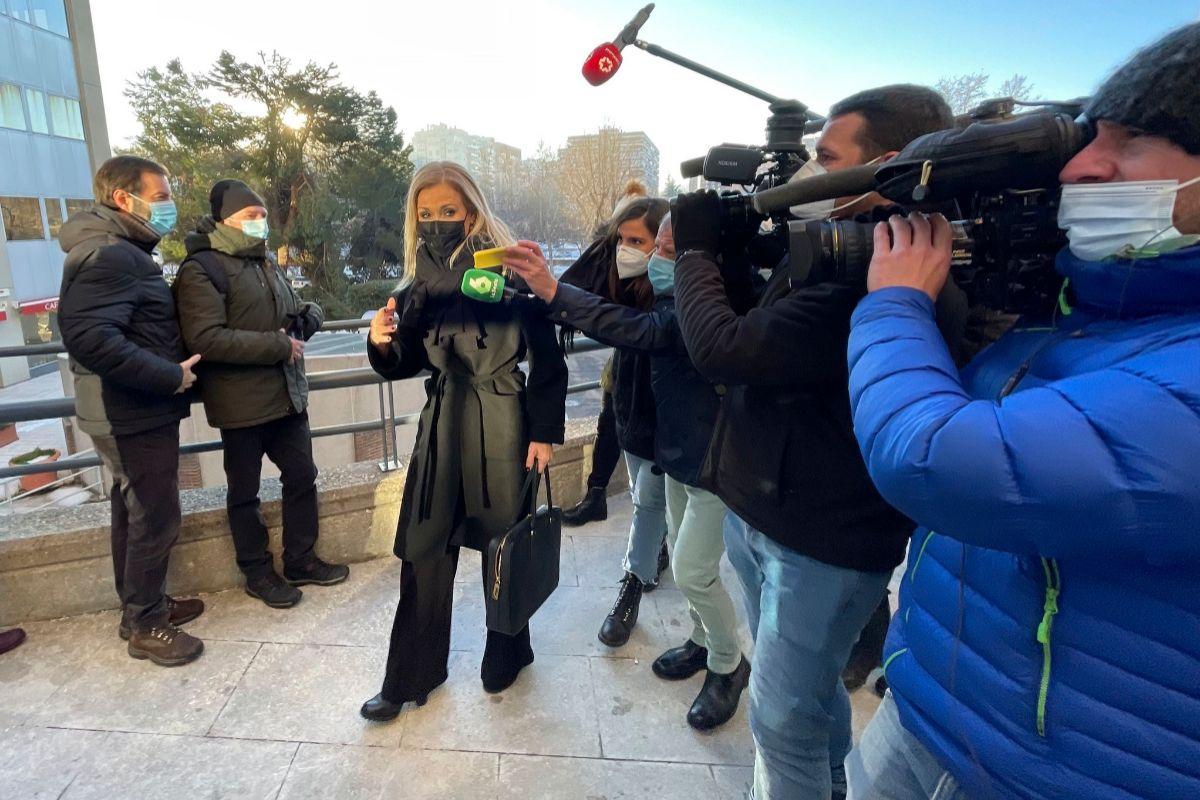 Cristina Cifuentes, a su llegada a la Audiencia Provincial de Madrid.