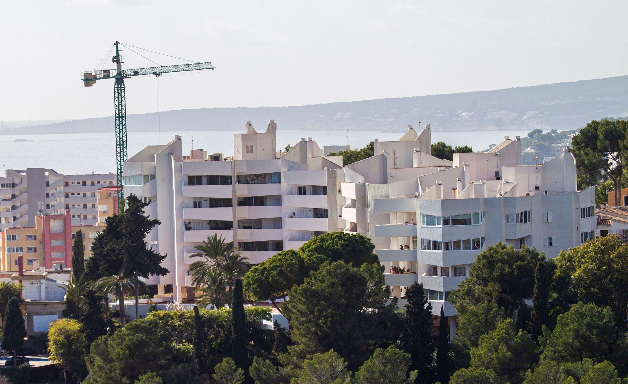 Varios bloques de vivienda en Palma de Mallorca.