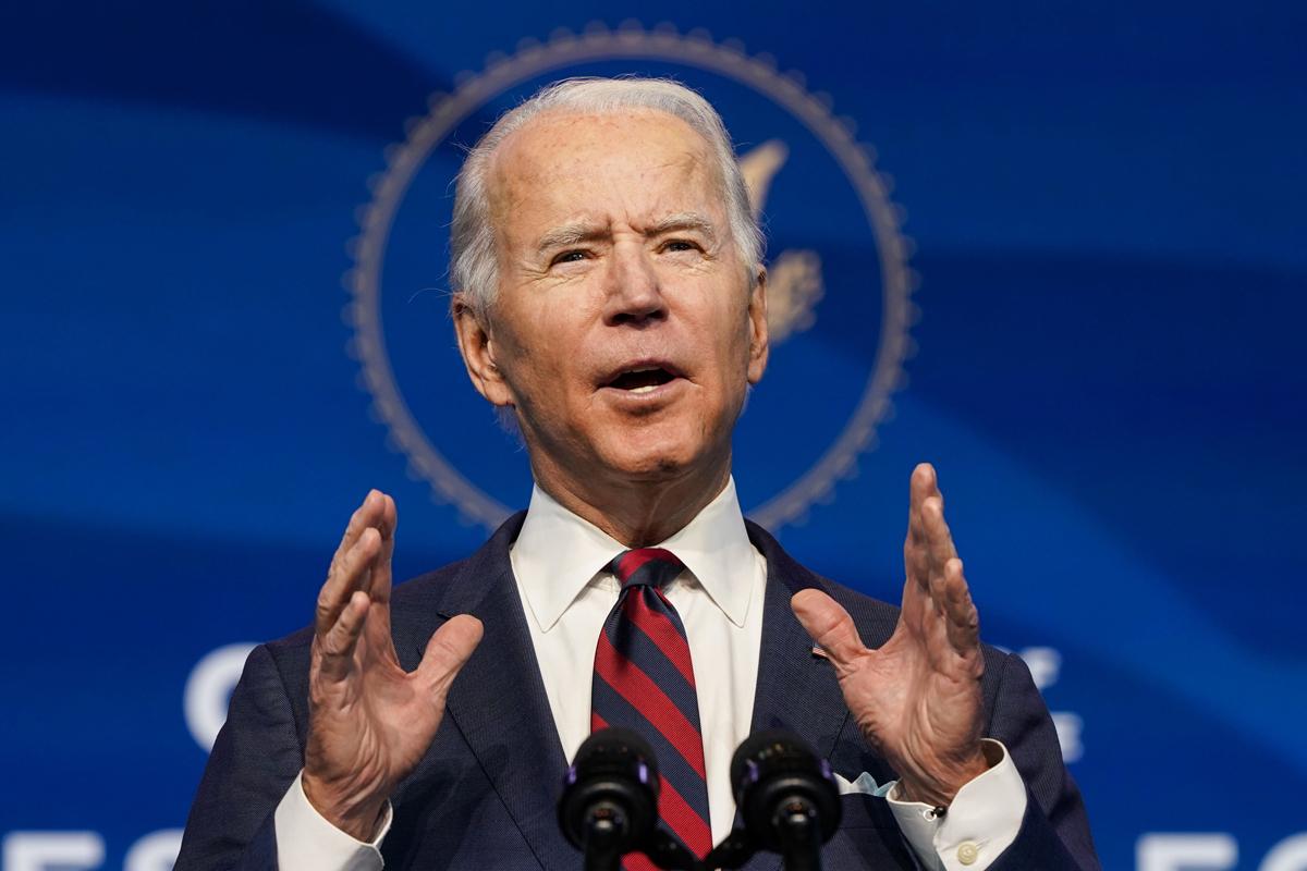 جو بایدن ، رئیس جمهور تازه انتخاب شده ایالات متحده ، در ماه دسامبر.