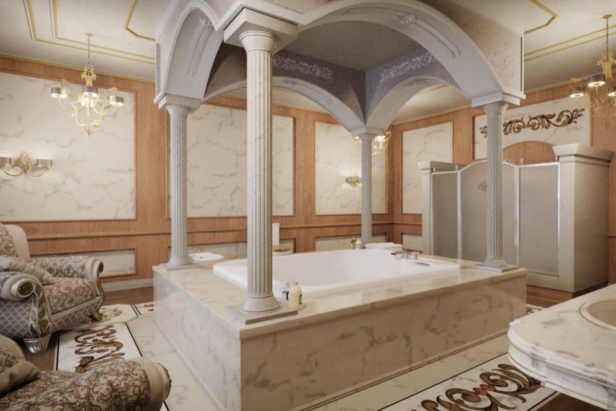 یکی از حمامها