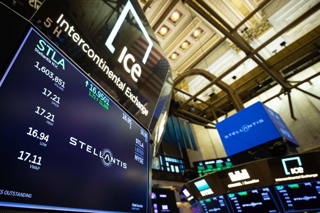 Stellantis ya cotiza en la bolsa de Estados Unidos.
