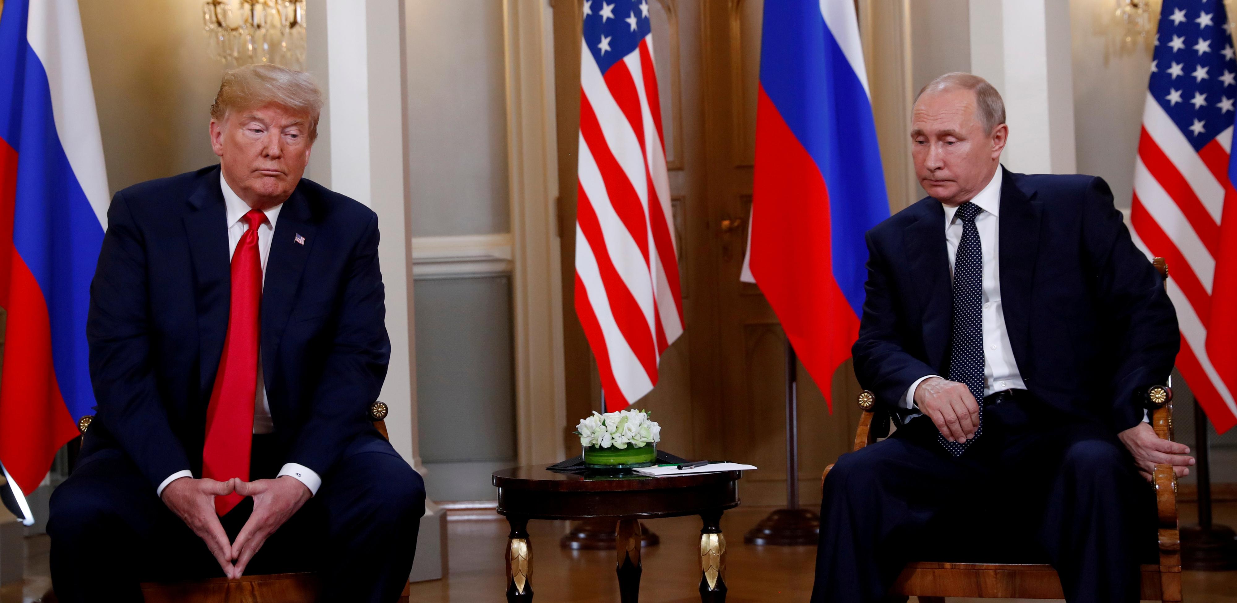 پوتین و ترامپ در اجلاس هلسینکی 2018