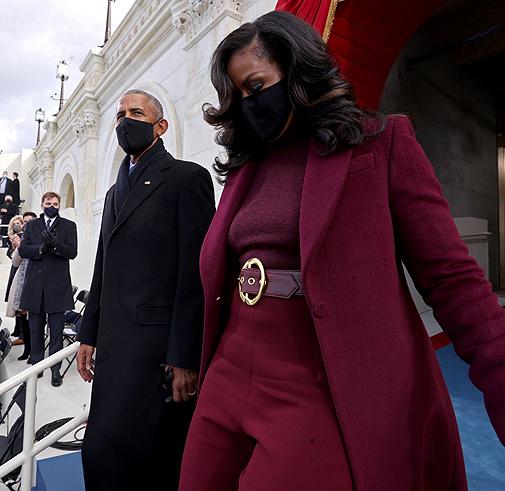 Los Obama llegan a la toma de posesión de Biden.