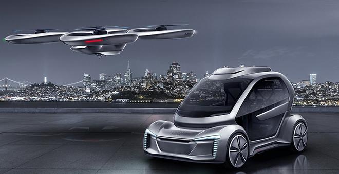 Propuesta fallida de Airbus y Audi. El dron llevaría al coche