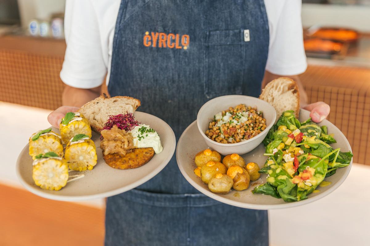 Comida rápida con la dieta mediterránea de Cyrclo.