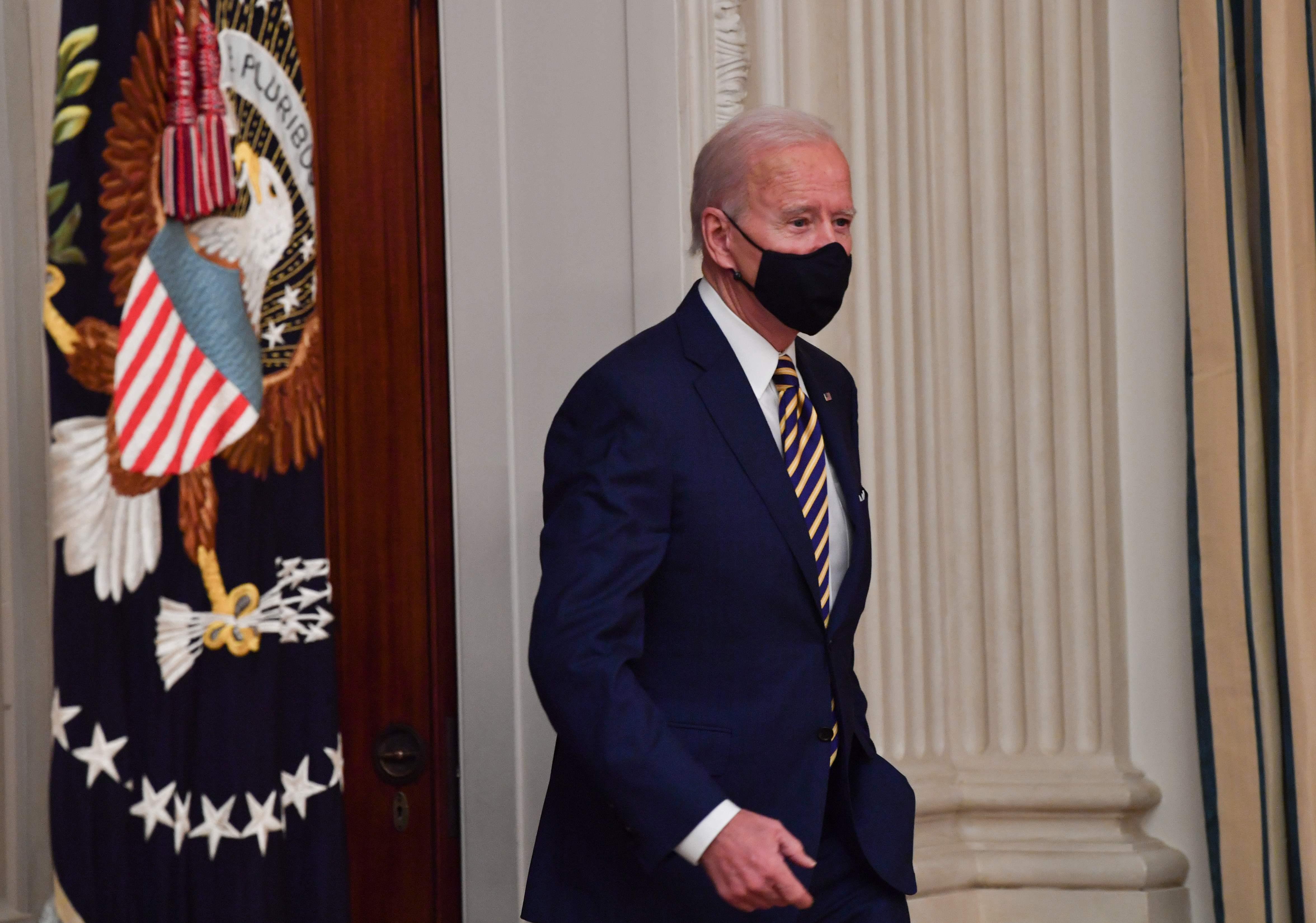 El presidente Joe Biden. este viernes en la Casa Blanca.