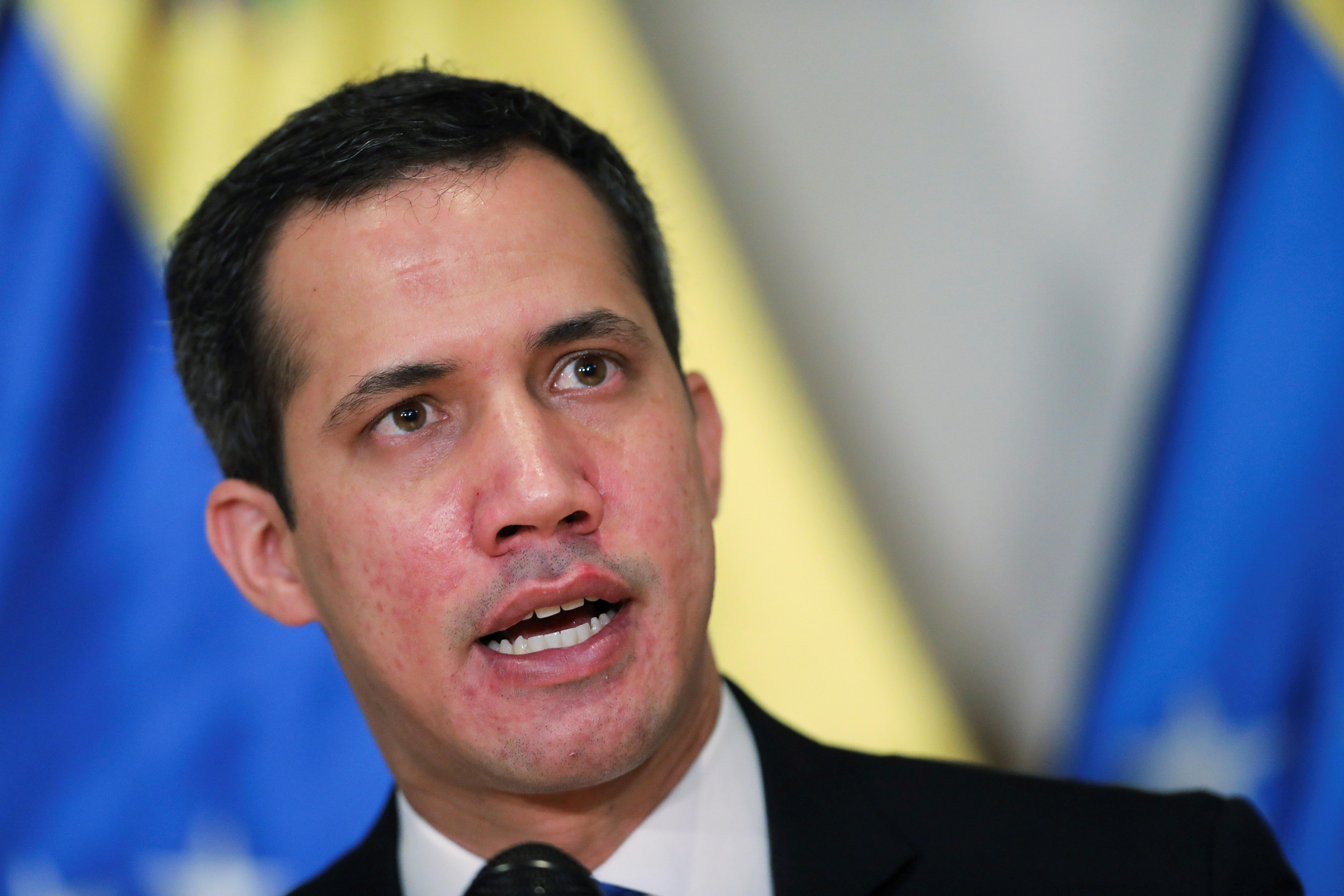 El líder opositor venezolano Juan Guaidó, en Caracas.