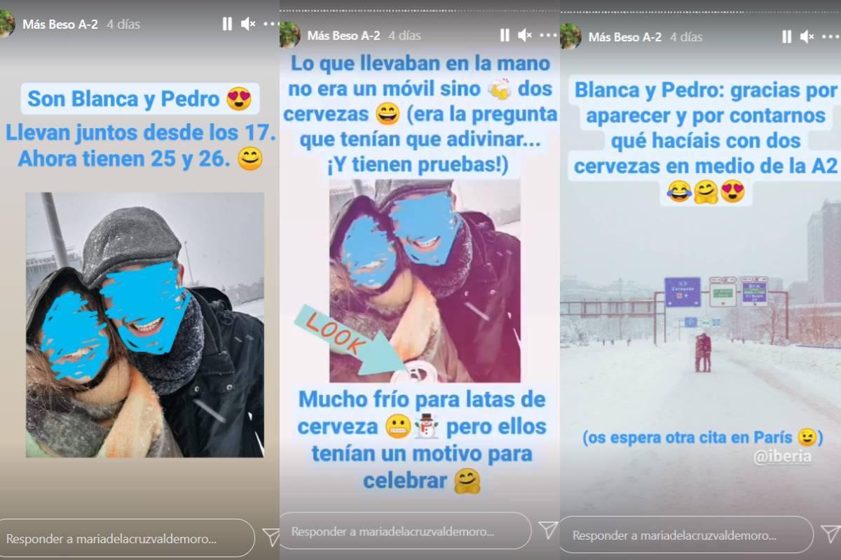 Así anunció la fotógrafa en Instagram Stories que había encontrado a la pareja