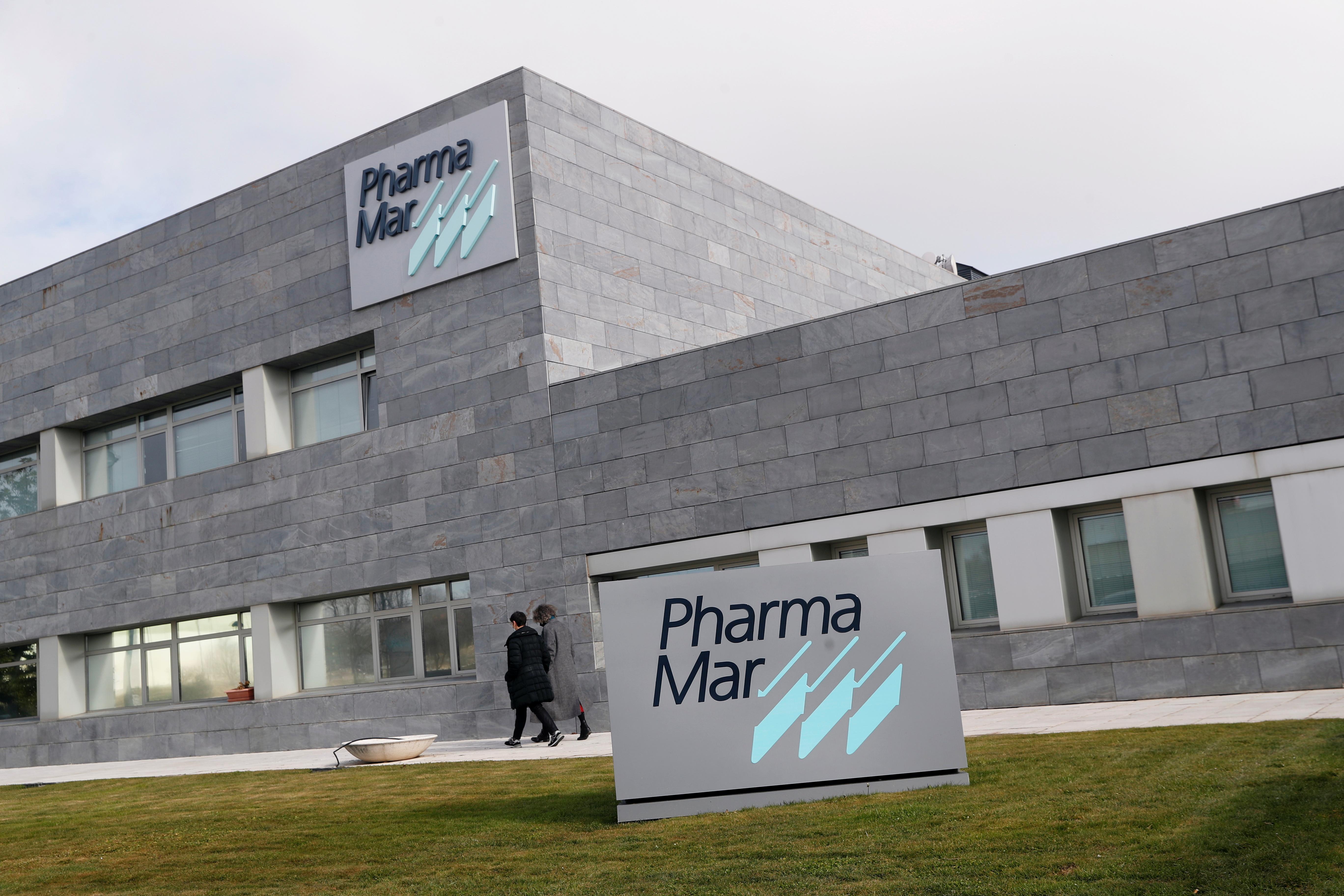 Exterior de la sede de PharmaMar en Colmenar Viejo (Madrid).