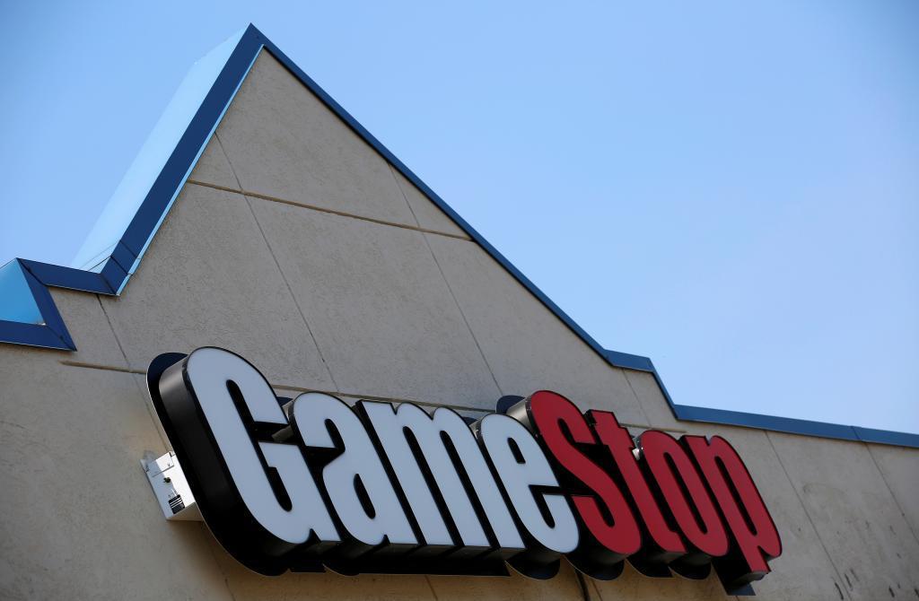 Logotipo de una tienda de GameStop en Illinois.