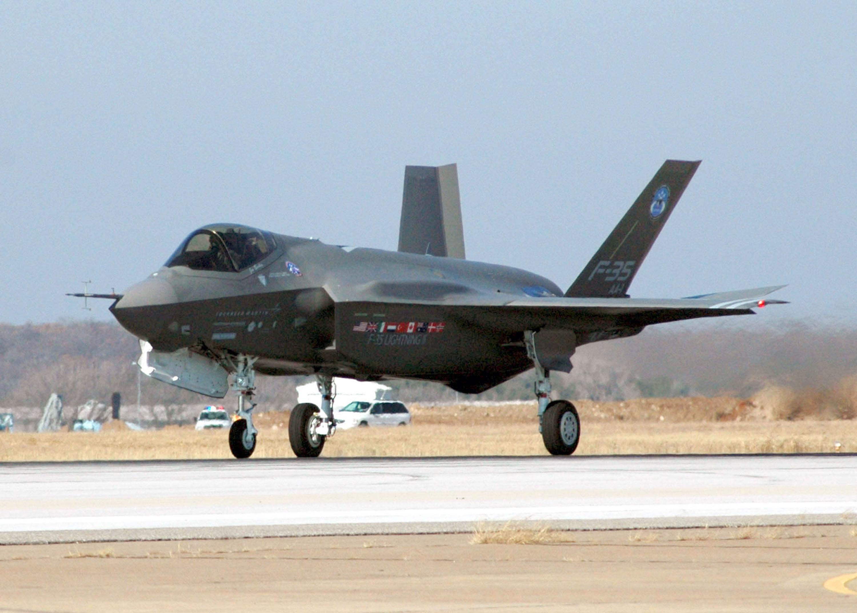 Un avión F-35 de EEUU en una base de Texas.
