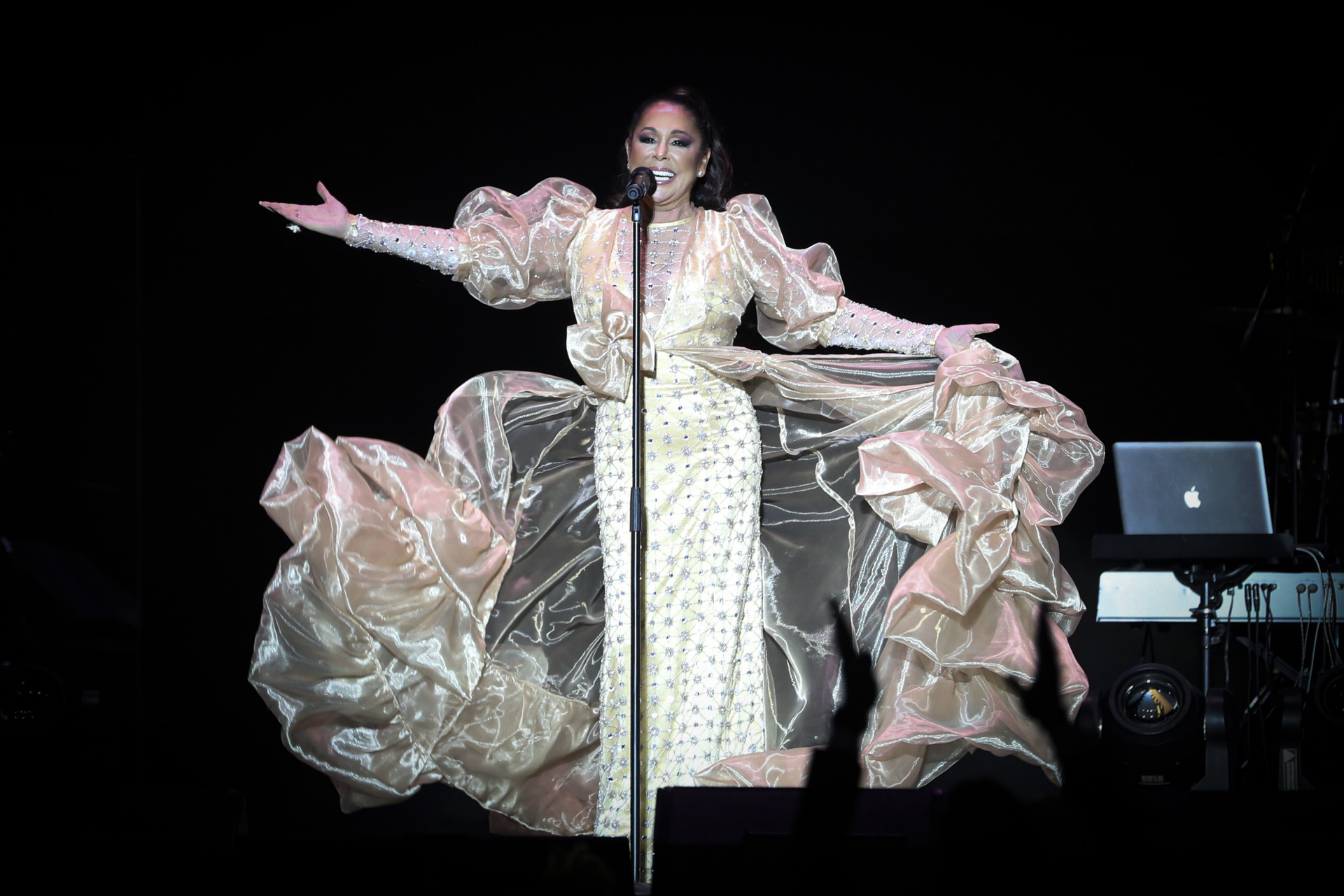 La cantante, hasta su último concierto hasta la fecha, el pasado mes de marzo.