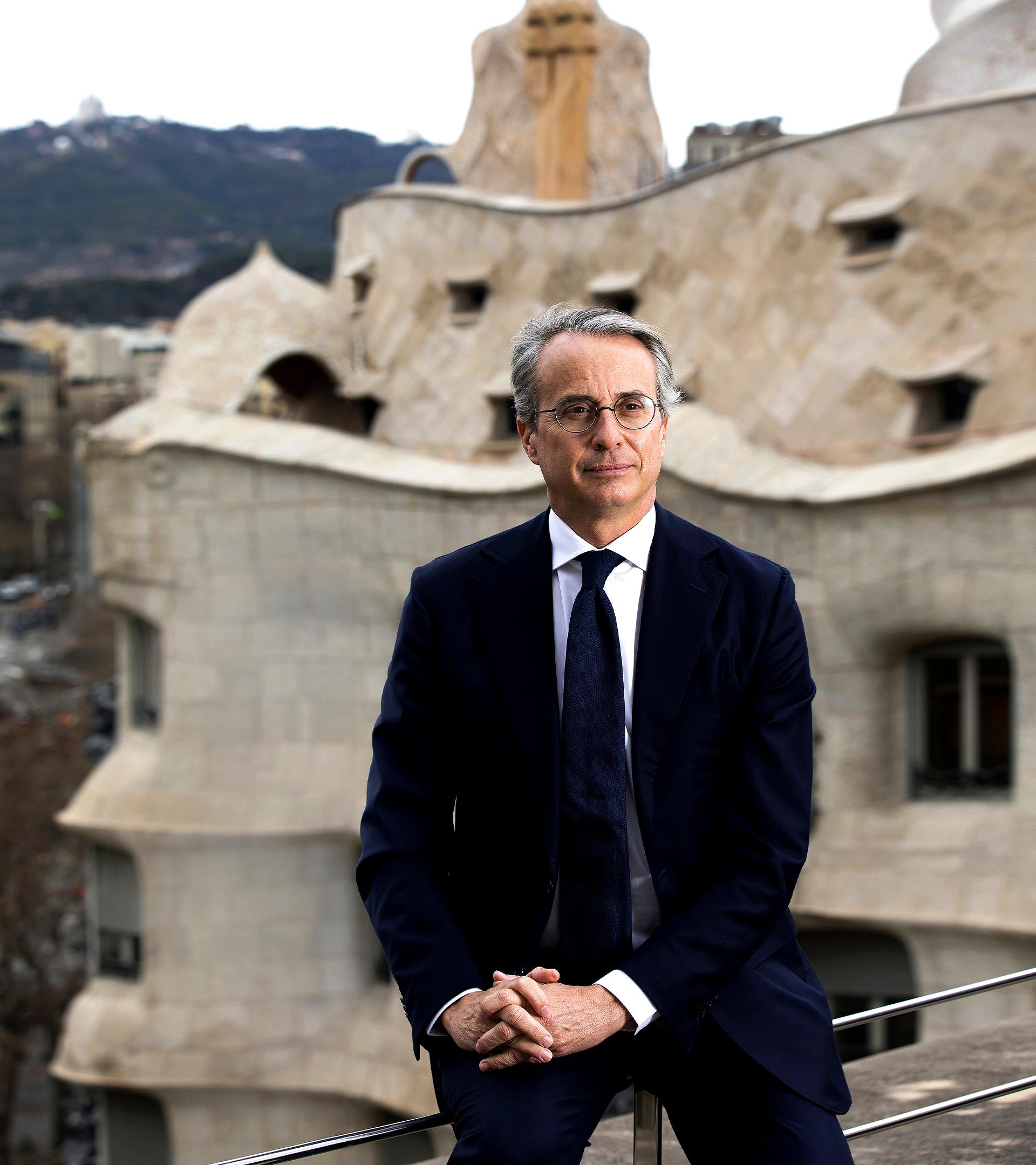 Javier Faus, presidente del Círculo de Economia, en su sede de Barcelona.