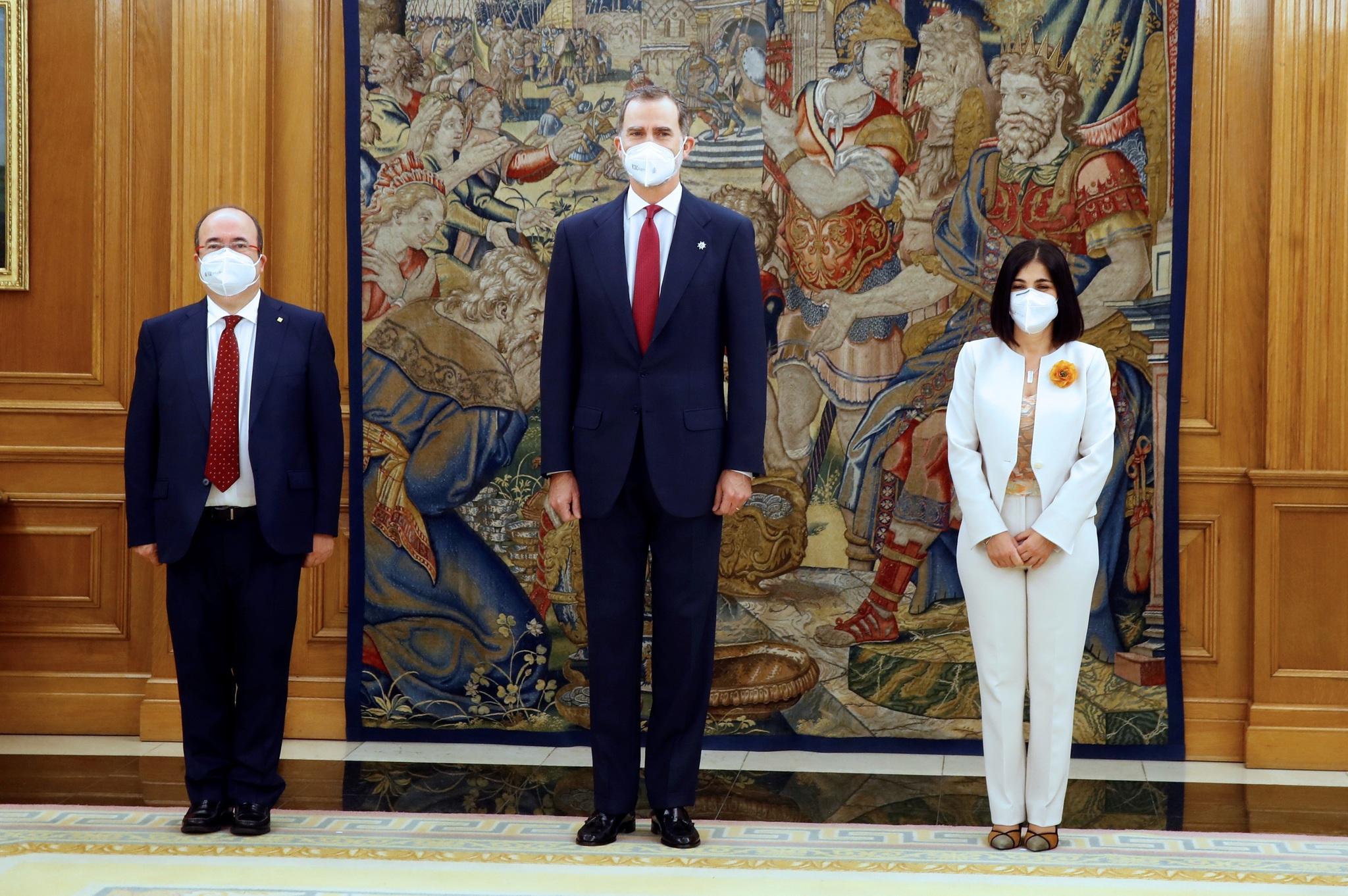 El miércoles pasado el Rey presidió el acto en el que prometieron como ministros Carolina Darias y Miquel Iceta