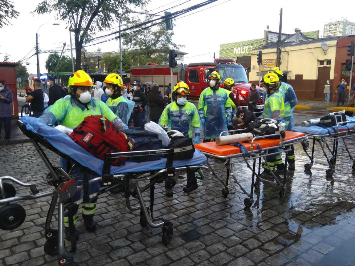 Imagen facilitada por los bomberos chilenos en su cuenta oficial de Twitter.
